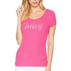 Juicy Couture Lace Up Back Tee NWT